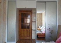 Шкаф с антресолями матовое стекло