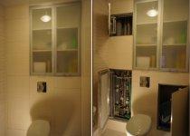 Шкаф в туалет с матовым стеклом
