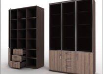 Двухдверные книжные шкафы