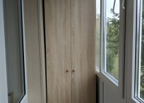 Шкаф на балкон узкий