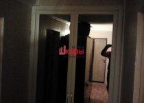 Дверь в кладовку с зеркалом