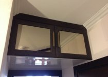 Зеркальные антресоли для трехдверного шкафа