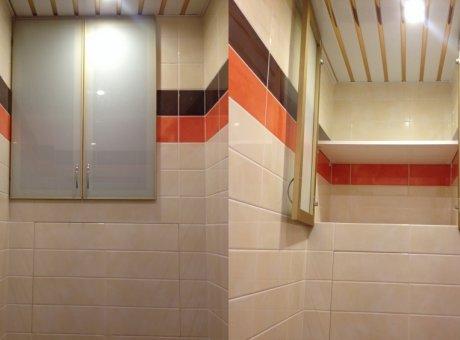 Шкаф в туалет в профиле