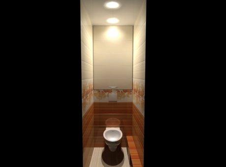 Современный шкафчик в туалет